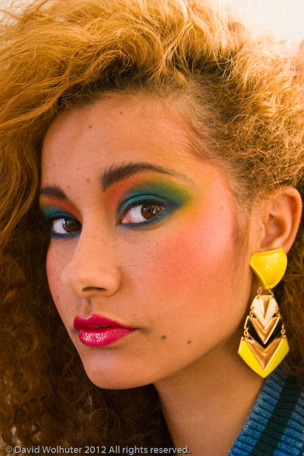Back to the eighties Fashion style and make up